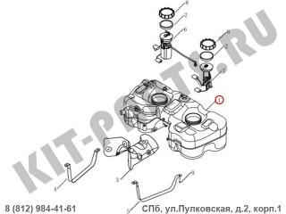Бак топливный для Geely Emgrand X7 NL4 1016014621