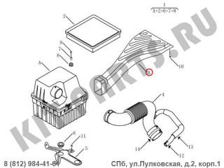Воздухозаборник воздушного фильтра (1.8i) для Geely Emgrand X7 NL4 1016017448