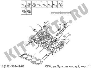 Головка блока цилиндров (1.8i) для Geely Emgrand X7 NL4 1016051920