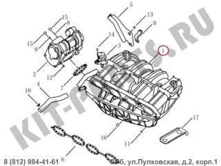 Впускной коллектор для Geely Emgrand X7 NL4 1016055399