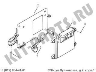 Блок управления двигателем (1.8i) для Geely Emgrand X7 NL4 1016017869