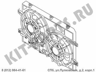 Вентилятор радиатора охлаждения двигателя для Geely Emgrand X7 NL4 1016017910