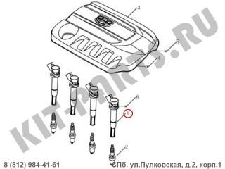Катушка зажигания для Geely Emgrand X7 NL4 1016059236