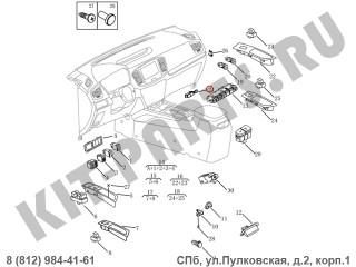 Кнопка аварийной сигнализации для Geely Emgrand X7 NL4 1017027648