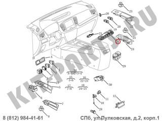 Блок переключателей приборной панели (1.8i) для Geely Emgrand X7 NL4 101703414500738