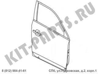 Дверь передняя правая для Geely Atlas 5075005700C15