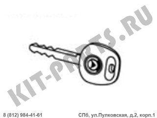 Болванка ключа для Geely MK, Geely MK Cross 1018010723