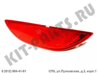 Катафот заднего бампера правый для Hyundai Solaris I 924061R000
