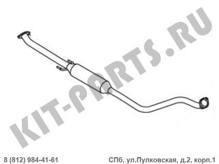 Глушителя средняя часть (EURO 3, 1.6i) для Geely MK, Geely MK Cross 1016001448
