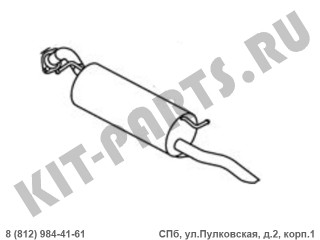 Глушитель задняя часть (банка) для Geely MK, Geely GC6 1016001449