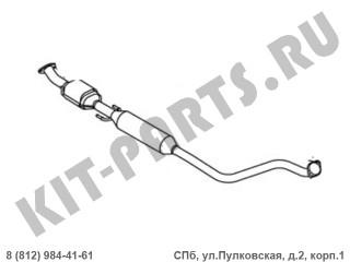 Глушителя средняя часть (EURO 4, 1.5i) для Geely MK, Geely MK Cross, Geely GC6 1016002496
