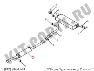 Глушитель средняя часть для Geely Emgrand X7 NL4 1016020868