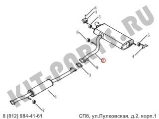 Глушитель задняя часть (банка) для Geely Emgrand X7 NL4 1016020870