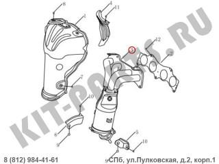 Выпускной коллектор для Geely Emgrand X7 NL4 1016052274