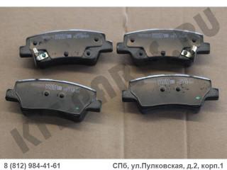 Колодки тормозные задние для Geely Emgrand EC7 106400172502