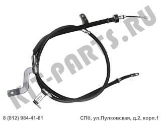 Трос ручного тормоза левый (диск) для Hyundai Solaris I 597601R300