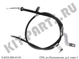 Трос ручного тормоза правый (диск) для Hyundai Solaris I 597701R300