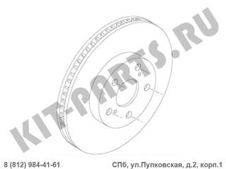 Диск тормозной передний для Lifan Murman G3501110